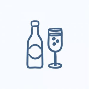 Glass & bubbly drink icons