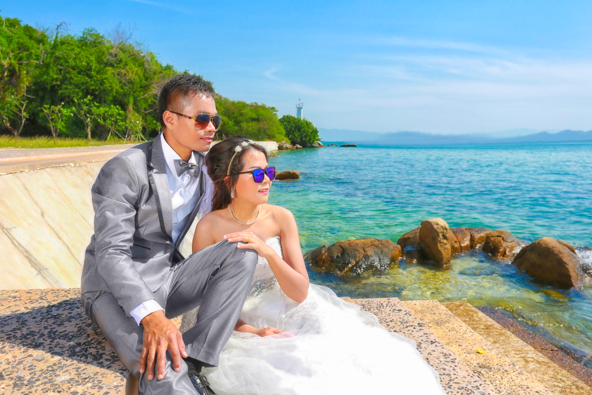 Asian couples fashion photography in pre wedding photos.